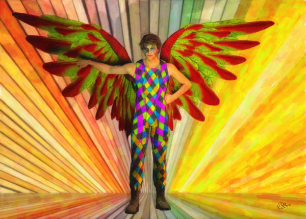 Commedia Dell Digital Art - Angel Circus Clown by Quim Abella