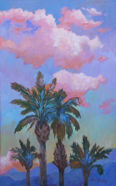 Wall Art - Painting - Angel Clouds And Palms by Diane McClary