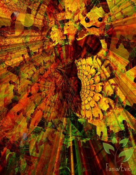 Harp Mixed Media - Angel by Fania Simon