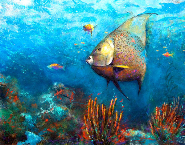 Painting - Angel Fish by Andrew King