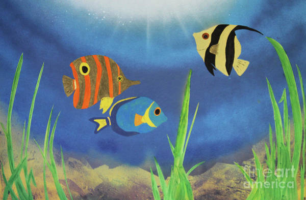Donegal Painting - Angel Fish by Eddie Barron