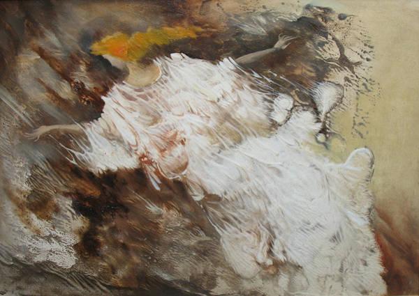 Painting - Angel Flight. Monotype by Valentina Kondrashova