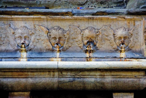 Photograph - Angel Fountain by Harry Spitz