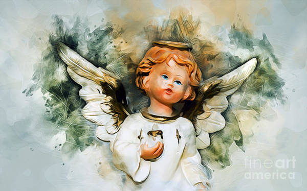 Divine Love Mixed Media - Angel From Heaven by Ian Mitchell