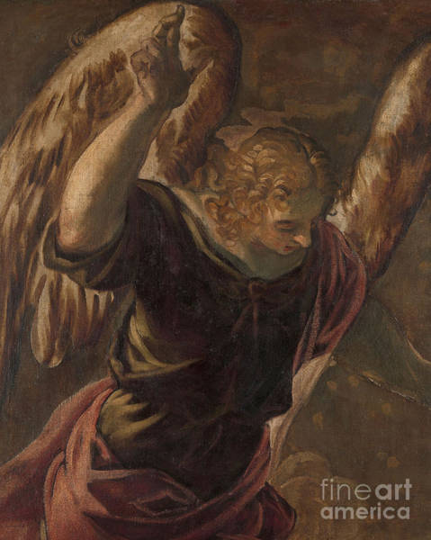 Wall Art - Painting - Angel From The Annunciation To The Virgin by Jacopo Robusti Tintoretto