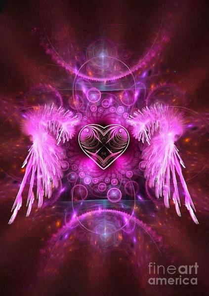 Painting - Angel In Pink Abstract Visual by Catherine Lott