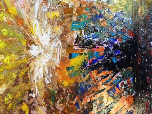 Spiritual Warfare Painting - Angel In The Battle Zone by Andrea Beloff