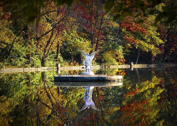 Photograph - Angel In The Lake - St. Mary's Ambler by Bill Cannon