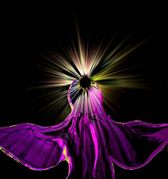 Angelic Digital Art - Angel In The Night by Abstract Angel Artist Stephen K
