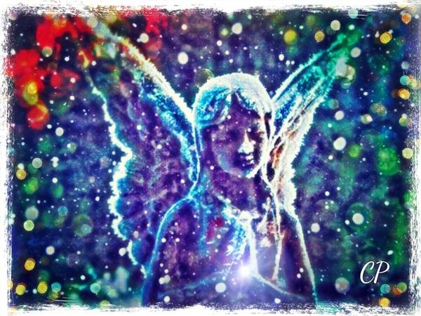 Mixed Media - Angel In The Snow by Christine Paris