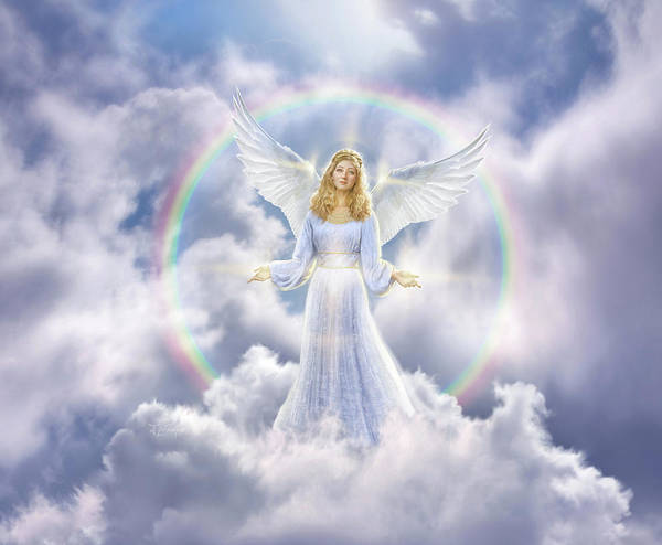 Cloud Digital Art - Angel by Jerry LoFaro