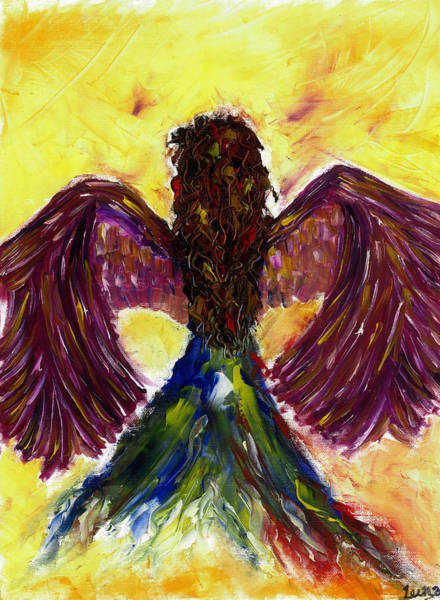 Angelic Beings Painting - Angel by Leena Kewlani