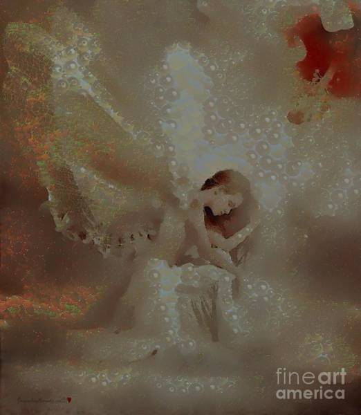 Painting - Angel Lit In Leapt  by Catherine Lott