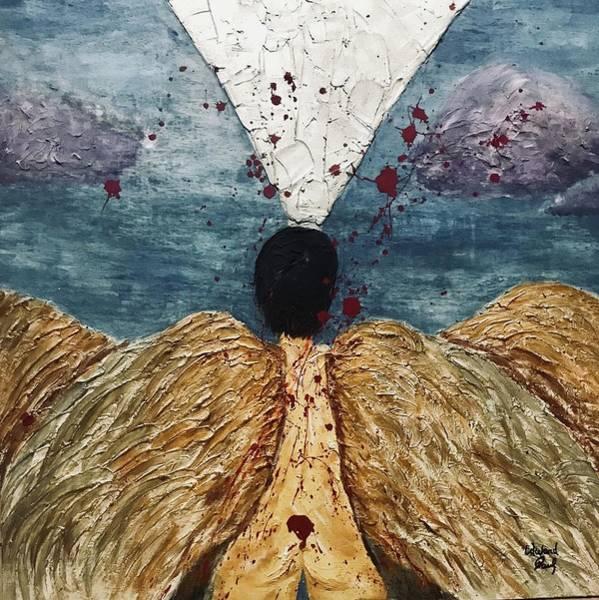Chris Cornell Wall Art - Painting - Angel Losing Its Wings - Fallen 01 by Edward Paul