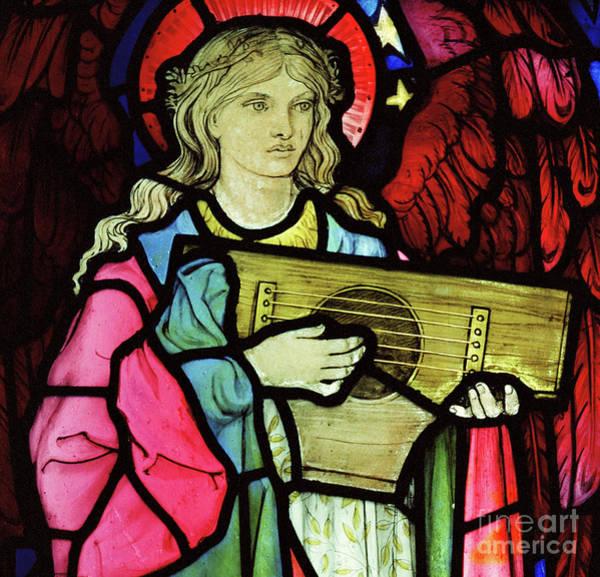Wall Art - Glass Art - Angel Musician, 1881 by William Morris