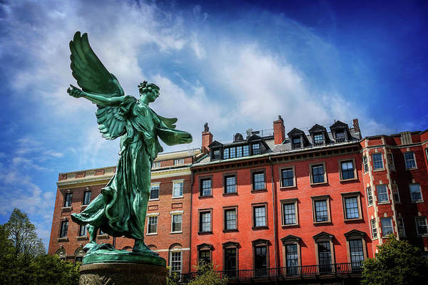 Wing Back Wall Art - Photograph - Angel Of Boston  by Carol Japp