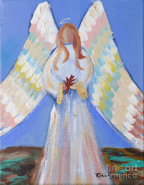 Painting - Angel Of Fall by Robin Maria Pedrero