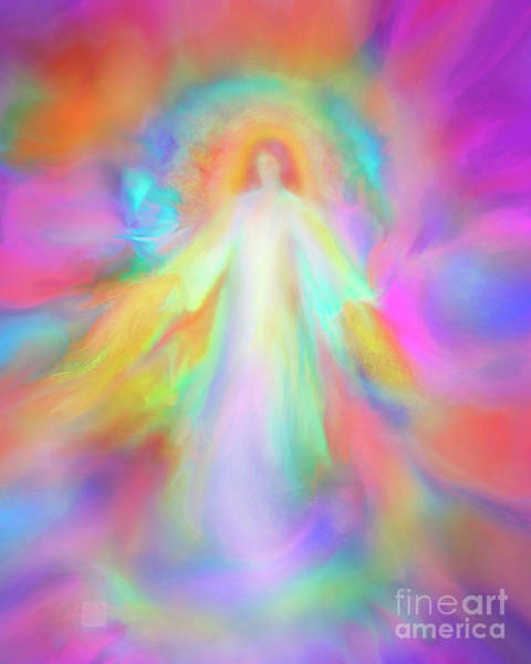 Angel Of Forgiveness And Compassion Art Print