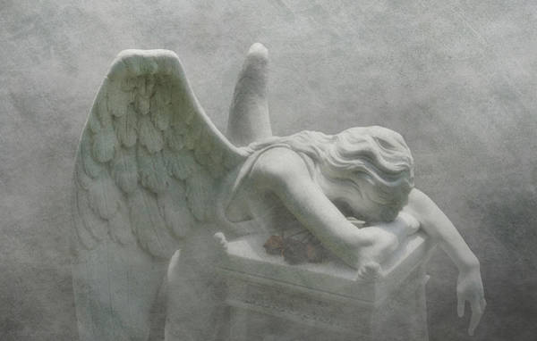 Graveyard Wall Art - Photograph - Angel Of Grief by Tom Mc Nemar