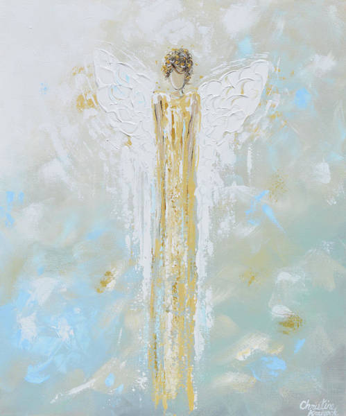 Wall Art - Painting - Angel Of Light by Christine Bell