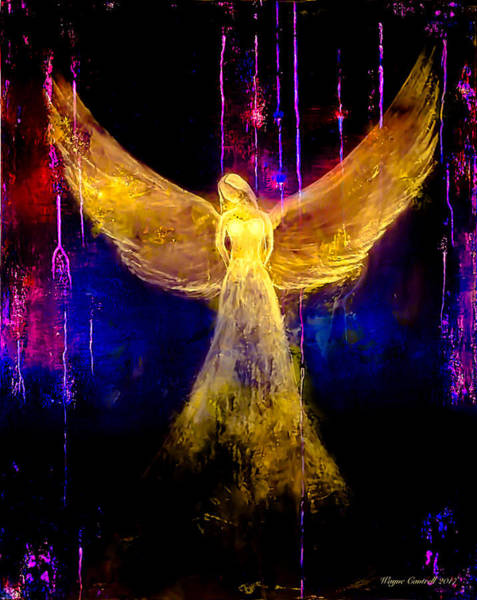 Hallway Mixed Media - Angel Of Light by Wayne Cantrell