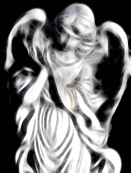 Angelic Digital Art - Angel Of Mercy by Holly Ethan