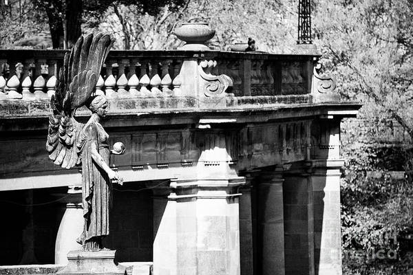 Angel Of Peace Photograph - Angel Of Peach Statue In Parade Gardens Bath England Uk by Joe Fox