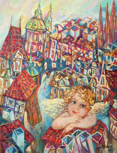 Painting - Angel Of Prague by Anna Skorko