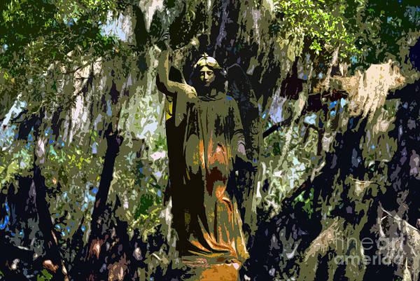 Angel Oak Painting - Angel Of Savannah by David Lee Thompson