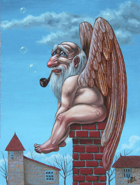 Painting - Angel Of The Chimney by Victor Molev