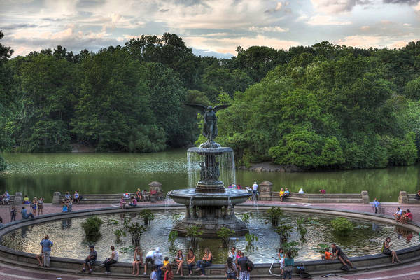 Wall Art - Photograph - Angel Of The Waters Fountain  Bethesda by Lee Dos Santos