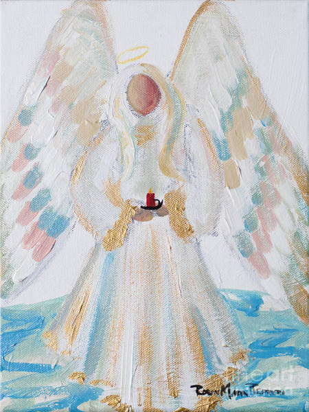 Painting - Angel Of Winter by Robin Maria Pedrero