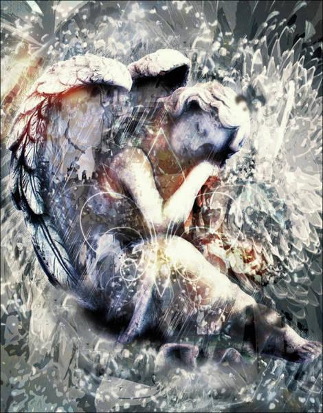 Angelic Digital Art - Angel Of Your Dreams by Georgiana Romanovna