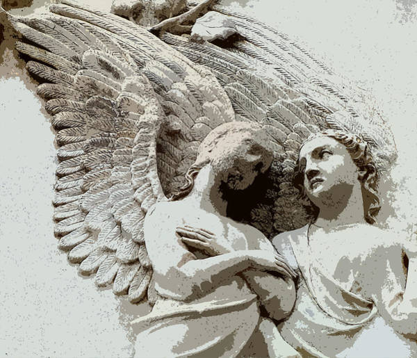 Angelic Digital Art - Angel Rescue by Mindy Newman