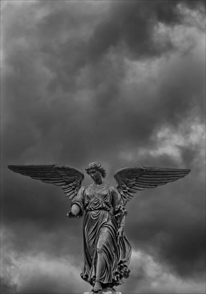 Bethesda Fountain Photograph - Angel Statue Bethesda Fountain Central Park 2 by Robert Ullmann