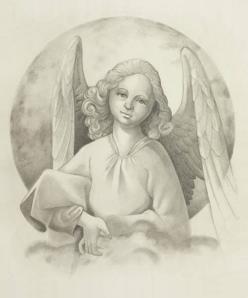 Wings Drawing - Angel by Todd Baxter