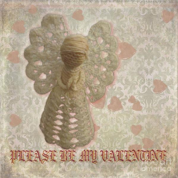 Crochet Digital Art - Angel Valentine by Victoria Harrington