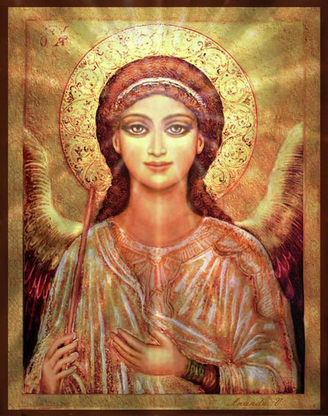 Wall Art - Mixed Media - Angel Vision  by Ananda Vdovic