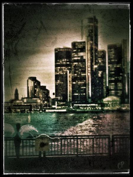 Photograph - Angel Watching Over Detroit by Christine Paris
