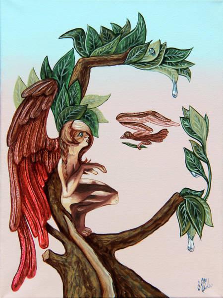 Angel, Watching The Reincarnation Of Marilyn Monro. Op.2769 Art Print