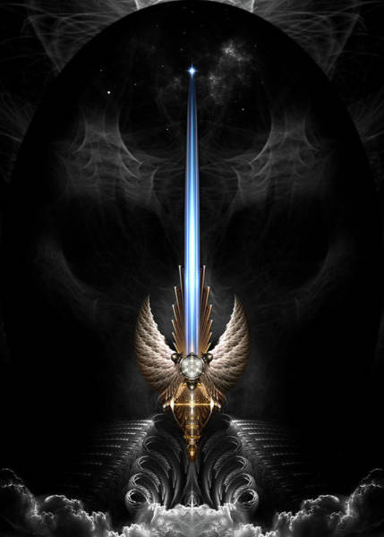 Puma Digital Art - Angel Wing Sword Of Arkledious Dgs by Xzendor7