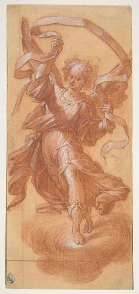 Procaccini Painting - Angel With A Banderole , Camillo Procaccini by Camillo Procaccini
