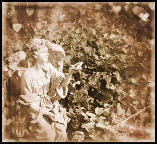 Photograph - Angel With Bird by Christine Paris