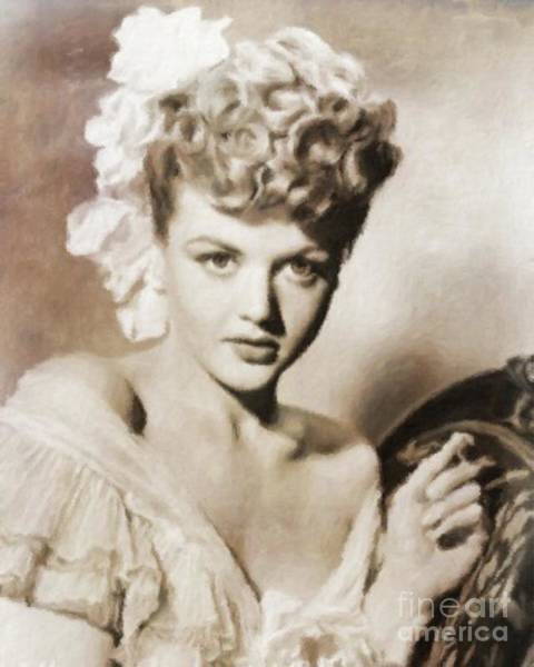 She Painting - Angela Lansbury By Mb by Mary Bassett