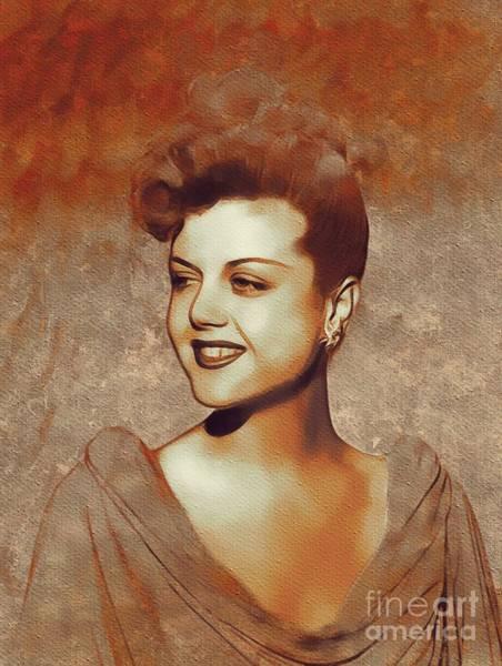 She Painting - Angela Lansbury, Hollywood Legend by Mary Bassett