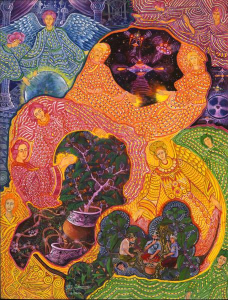 Painting - Angeles Avatares by Pablo Amaringo