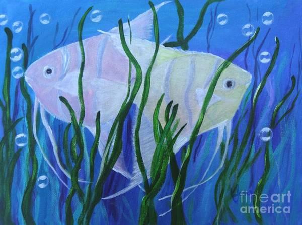 Painting - Angelfish Duo by Karen Jane Jones