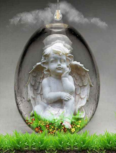 Cloud Cover Mixed Media - Angelic Art by Marvin Blaine