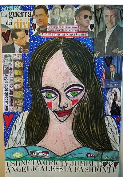 Wall Art - Mixed Media - Angelicalessia Fashion Tv by Francesco Martin