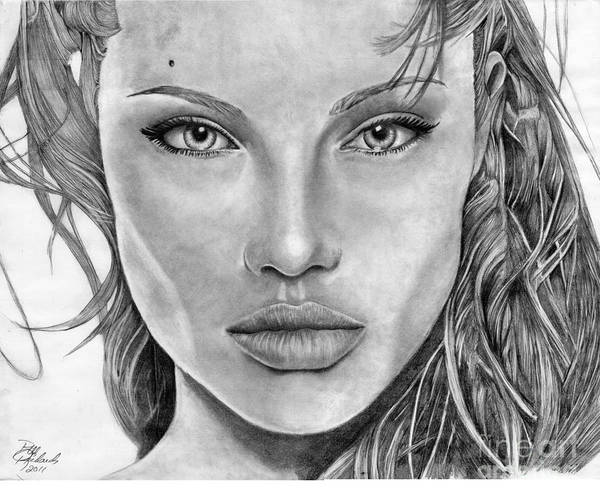 Drawing - Angelina Jolie by Bill Richards